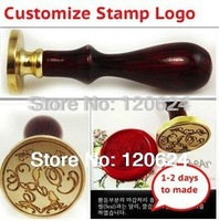 Double Letter Custom Design Customize Logo Design Wedding Retro Antique Ancient Wax Seal Stamp Free Shipping