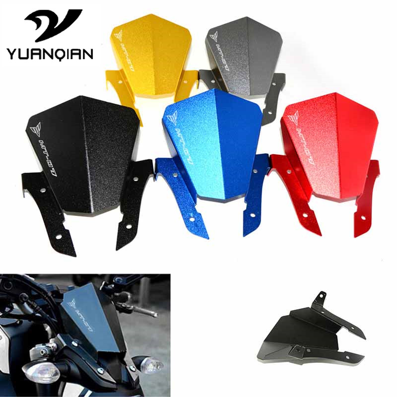 withMT-07logo Motorcycle Accessories Front Windshield kit for Yamaha MT07 mt-07 mt 07 2013-2015 2013 2014 2015 motorcycle cnc aluminum windscreen windshield mounting bracket for yamaha mt07 mt 07 2014 2015 2016 red new style with logo