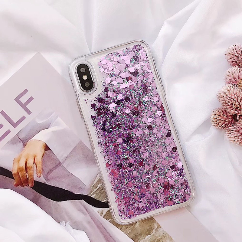 Soft Glitter Dynamic Liquid Quicksand Case for iPhone X Cases 5S SE 6S Plus for iPhone 7 Cover 8 Plus Silicon Case For iPhone 8 (3)