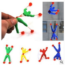 10pcs/lot random color toy slime Viscous Climbing Spider-Man one piece Action Figure funny gadgets PVC Spiderman for kids toys(China)