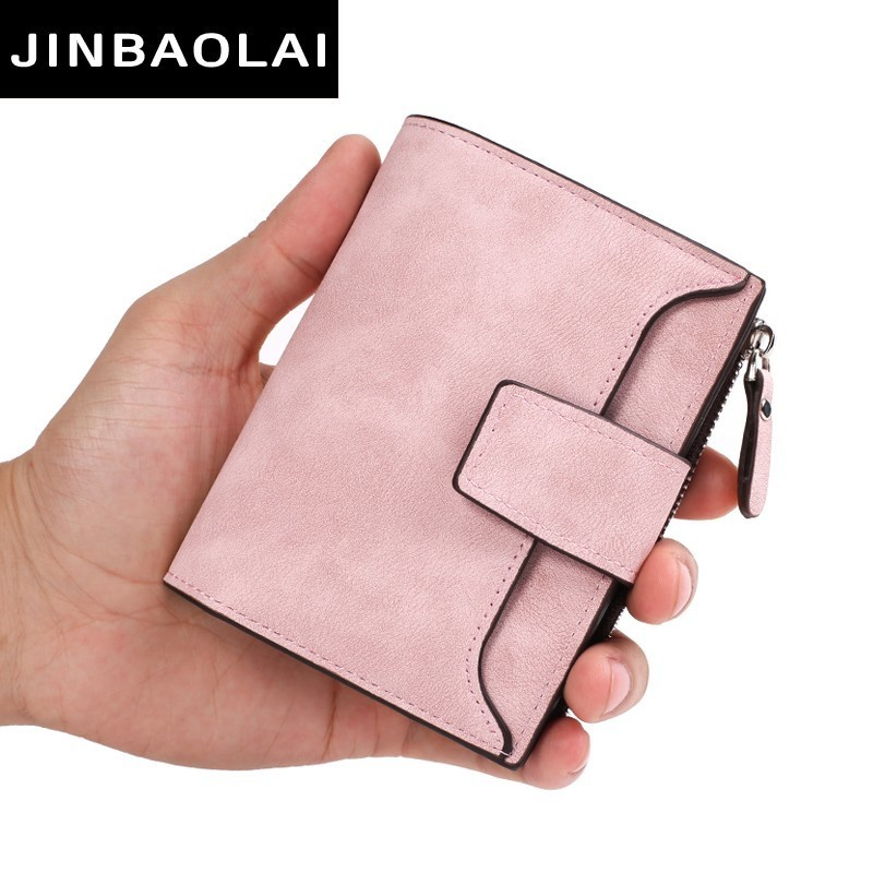 new leather women wallet hasp small and slim coin pocket purse women wallets cardholders luxury brand wallets designer purse ...