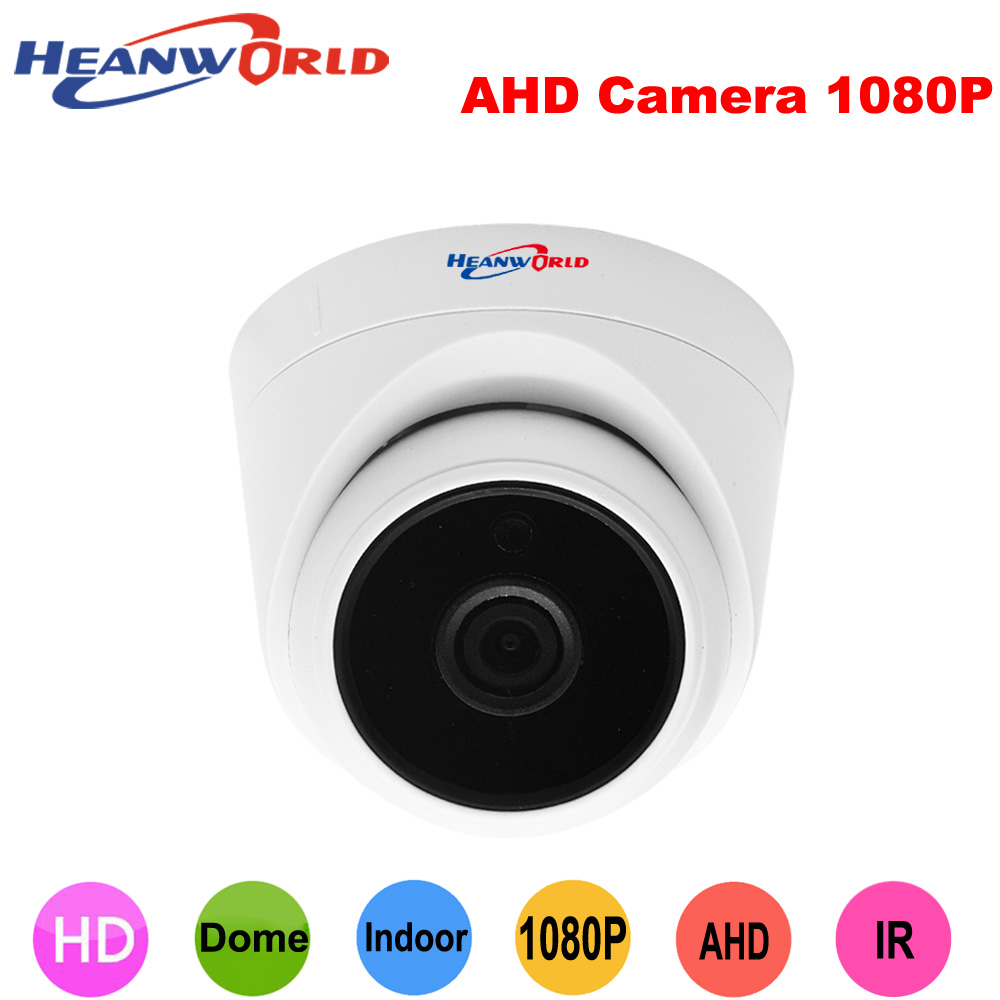 Heanworld ahd camera 1080P cctv camera hd surveillance camera indoor home security camera 2.8mm lens wide angle dome cam full hd cctv surveillance ahd security 1080p 2 0mp hd dome camera system night vision 3 6mm lens cctv camera 24leds ircut for ahd dvr