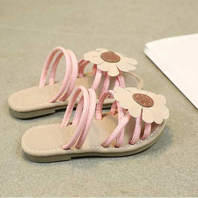5c99920fd744 Sandal childhood Sunflower toddler girl summer shoes Slipper Casual kids  beach shoes mini melissa shoes for girls jelly shoes