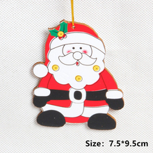 Christmas Ornaments for Home Xmas Tree Cardboard Pendant Decorations Ornament Party Kids Gift
