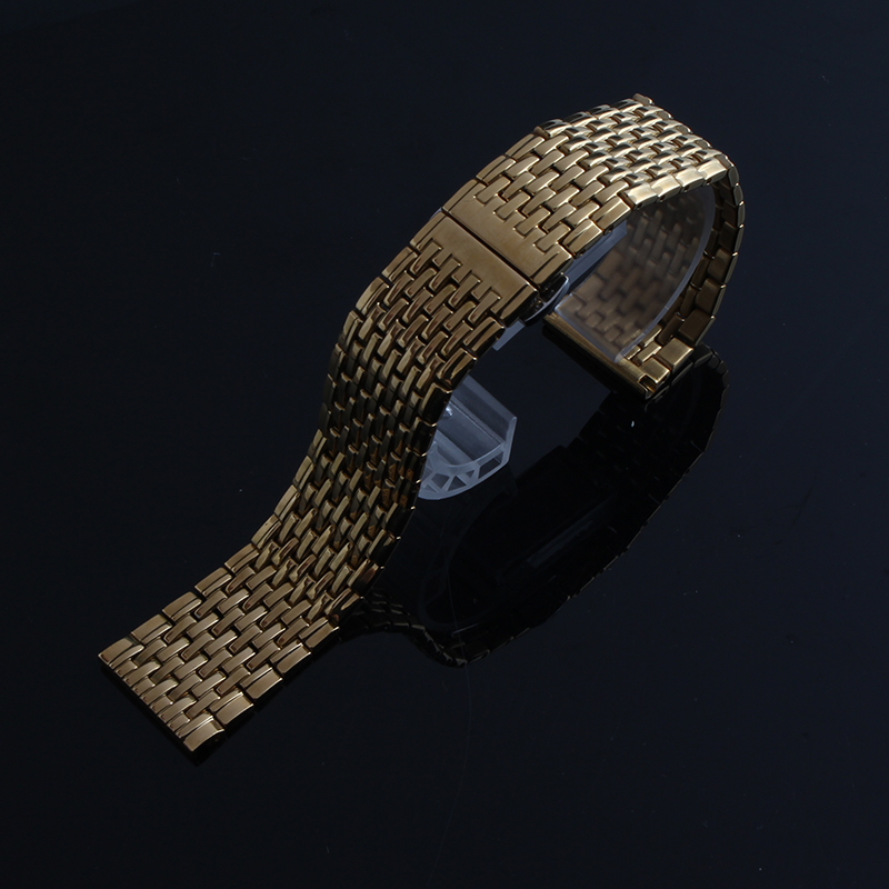 Promotion Watchband Stainless STEEL Polished Watches bracelet strap 18mm 20mm 22mm Gold watch accessories for smart