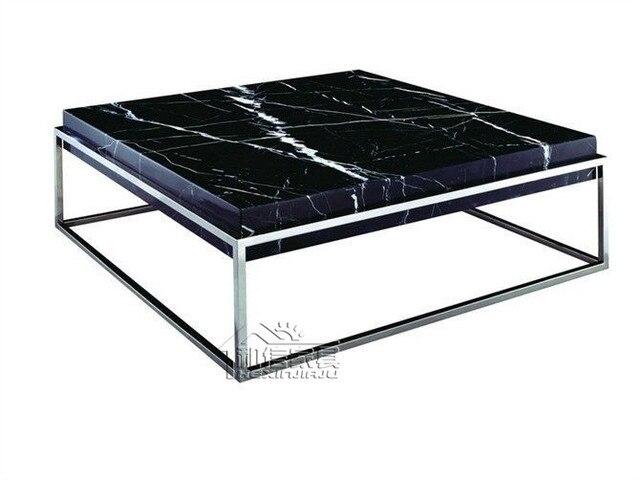 Post moderne minimalistische ikea vierkante marmeren salontafel