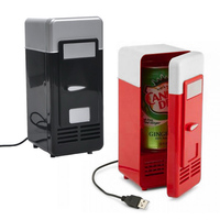 Mini USB Fridge Cooler Beverage Drink Cans Cooler Warmer Refrigerator For Laptop PC QJY99