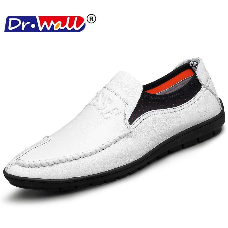 Kényelmes kézzel készített bőrcipők Alkalmi férfi lakások - Férfi cipők
