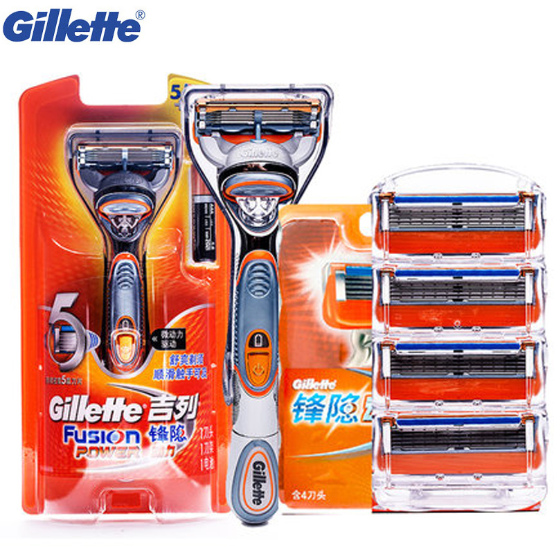 Gillette Fusion Power Razor Electric Shaving Razor Blades Shaving Razor Shaving Blades Shave Shaver Safety Razor 1Holder 5blades