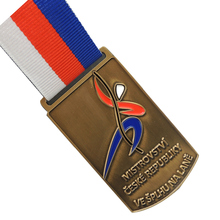 OEM Promotional Medals with Customized Logo Chinese Factory Making low price custom sports medals ribbons