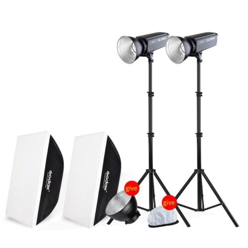 Godox SL200W Kit White Version LCD Panel LED Video Light Wireless Control for Wedding Journalistic Video Recording Photo Studio godox professional led video light led308w wireless 433mhz grouping system 308 led bulbs of high brightness white version