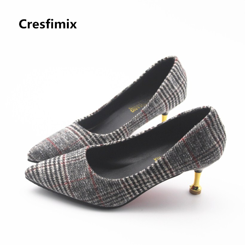 women fashion classic black plaid pattern high heel shoes lady cool stylish spring & summer high heel pumps sweet shoes e671 цены онлайн