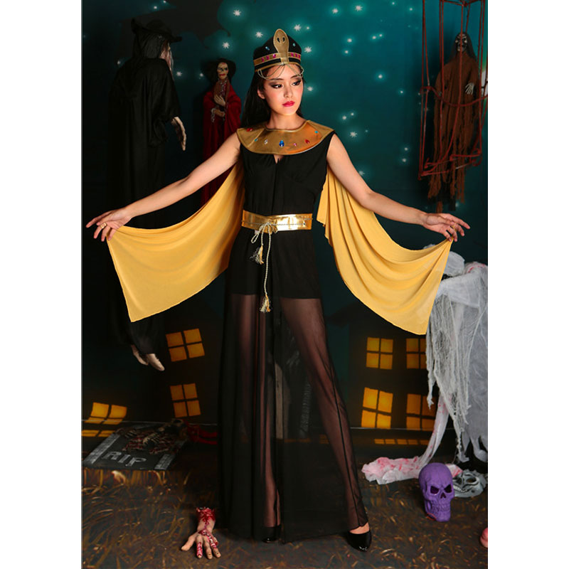 Umorden Carnival Party Halloween Sexy Cleopatra Costume Egyptian Queen of the Nile Costumes Long Split Fancy Dress for Women