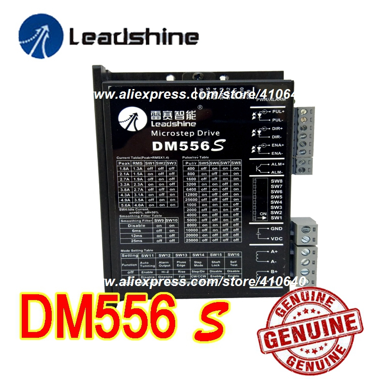 Genuine! Leadshine Stepper Motor Drive DM556S Updated From Old Leadshine DM556S with Better Anti-interference FunctionGenuine! Leadshine Stepper Motor Drive DM556S Updated From Old Leadshine DM556S with Better Anti-interference Function