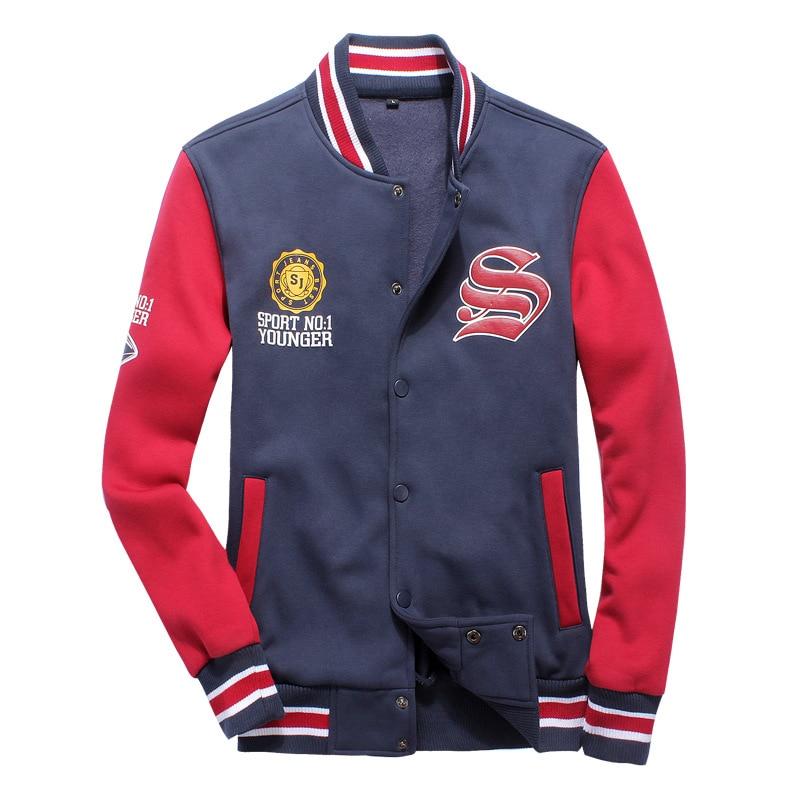 Printed Mens Baseball Jacket Single Breasted Slim Patchwork Bomber Jacket Uniform Sweatshirts Korean Style Black Gray