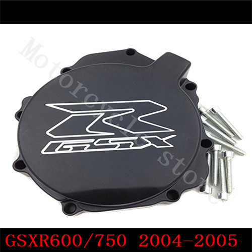 For Suzuki GSXR600 GSXR750 2004-2005 K4 GSXR1000 2003 2004 K3 GSXR 600 750 1000 Black Engine Stator cover left side injection mold high quality fairings for suzuki gsxr1000 03 04 k3 k4 wine red black fairing kit gsxr 1000 2003 2004 wt32