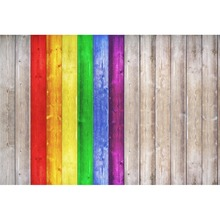 Laeacco Wood Backgrounds For Photography Colorful Planks Board Texture Party Food Portrait Backdrops Photo Studio