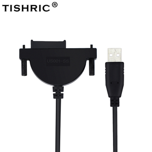 TISHRIC USB 2.0 to Mini Sata II 7+6 13Pin Adapter Converter Optical Drive Cable for Laptop CD/DVD ROM HDD Caddy