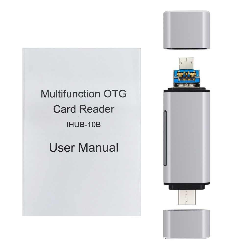 PROSTER 3-في-1 نوع C وتغ قارئ بطاقات مع USB الإناث واجهة ل PC USB 2.0 قراءة TF الذاكرة محوّل قارئ البطاقات الكمبيوتر