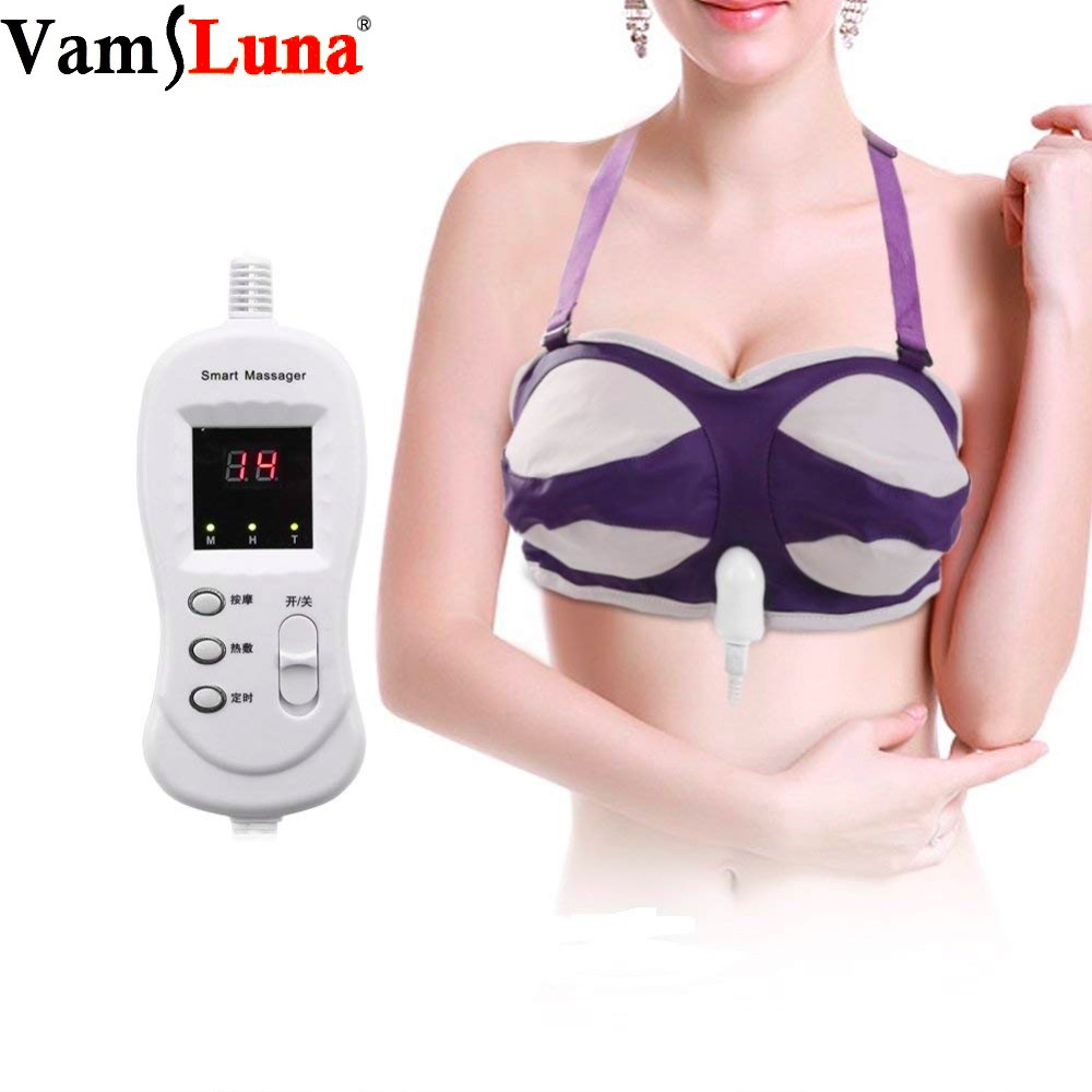 Bra Shape Electric Breast Massager, Heated Vibration Massage For Fuller Firmer & Rounder Corrector BreastsBra Shape Electric Breast Massager, Heated Vibration Massage For Fuller Firmer & Rounder Corrector Breasts