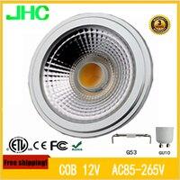 AC/DC12V AC 85 265V LED AR111 12W G53 GU10 equal to 75W high lumens QR111 high quality ES111 bulb spotlinght bulb PAR30