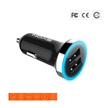 ShinyBean Fast Dual USB Car-Charger 12V-24V 2.4A Car Cigarette Lighter AC Adapter Car Charger For iPhone 7/iPad/Android Device