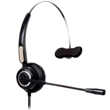 RJ9 Call Center Mono Wired Headset Monaural Customer Service Headphone Noise Reduction Headset Office Business Headphone