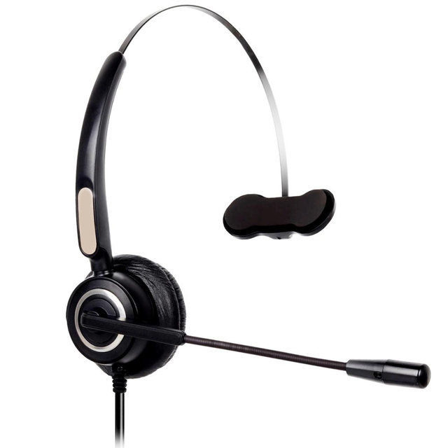 RJ9 مركز الاتصال أحادية سماعة رأس سلكية أحادي خدمة العملاء سماعة الحد من الضوضاء سماعة مكتب الأعمال سماعة