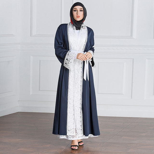 eb452eb8bfc maternity clothes2018 navy blue lace long sleeve maternity dresses for photo  shoot long plus size Dubai muslim pregnant dress