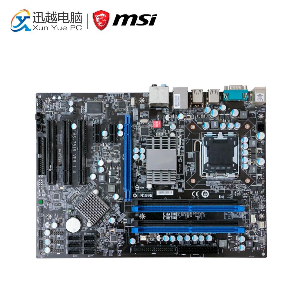 MSI P43T-C51 Desktop Motherboard P43 Socket LGA 775 DDR2 ATX On Sale цены
