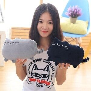 Image 4 - 25*20 Cm Kawaii בפלאש צעצוע חתול כרית כותנה ביסקוויטים בפלאש בעלי החיים בובת צעצועי גדול קריקטורה כרית כרית מתנה