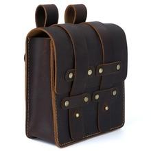 Moterm riñonera de piel auténtica para hombre, bolso para teléfono con cinturón, de viaje Vintage, pequeño