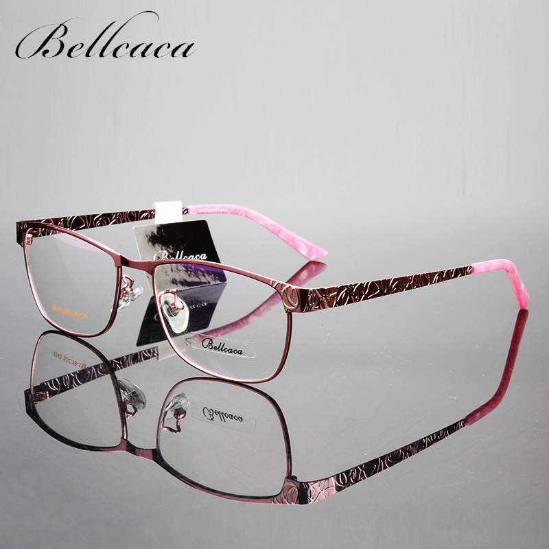 Bellcaca Spectacle Frame Mujeres Lentes Gafas Ópticas de Ordenador Miopía Marco Para las mujeres Lente Transparente Transparente lunette BC023