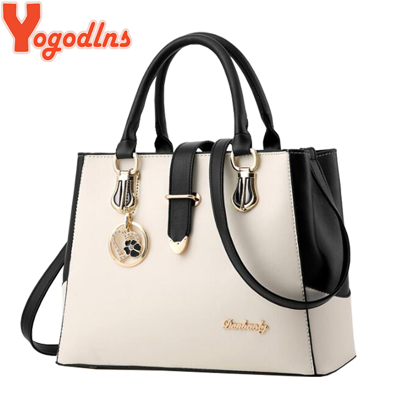 Yogodlns Large Capasity Leather Bag For Women Sweet Handbags Ladies Crossbody Bags Shoulder Bags Female Big Tote Sac A Main New