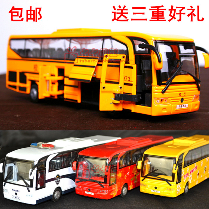Clever treasure 5 door tuba sound and light buses buses alloy car model toy car bus school bus