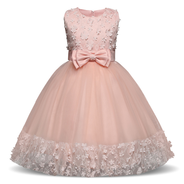 2018 Flower Girl Dresses Floral Princess Dress Girl Clothes For Wedding  Girl Christmas Party Dress Kids Clothes Children s Dress 5486db0854f4