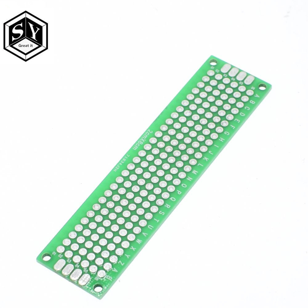 10pcs 2x8 Cm Double Side Prototype Pcb 28 Panel Universal Board Diy High Quality 2pcs Breadboard Printed Circuit Green In Integrated Circuits From Electronic Components Supplies On