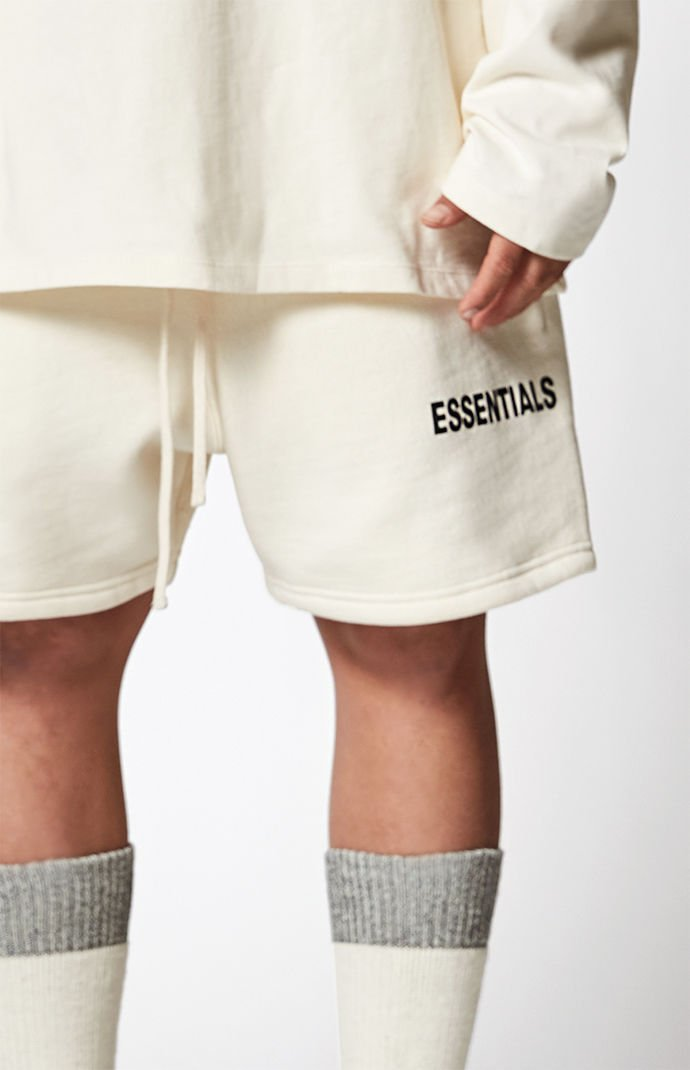 Hip Hop Streetwear Drawstring Essentials Shorts  Low Crotch Terry Sweat Shorts