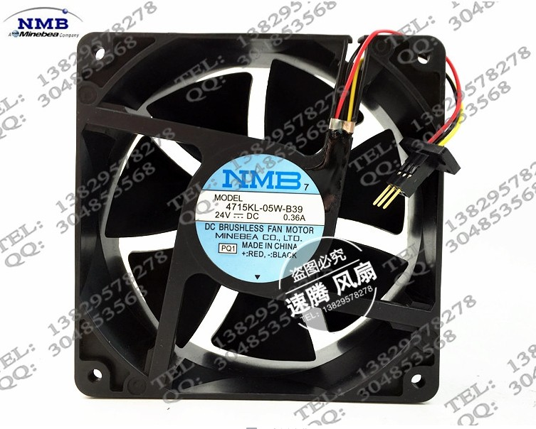 Купить с кэшбэком 4715KL-05W-B39 24V 0.36A 12038 fans with original plug
