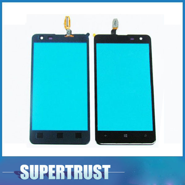 10pcs/Lot 4.7 inch For <font><b>Nokia</b></font> <font><b>Lumia</b></font> <font><b>625</b></font> N625Touch <font><b>Screen</b></font> Digitizer Front Glass Lens <font><b>Sensor</b></font> Panel Black color image