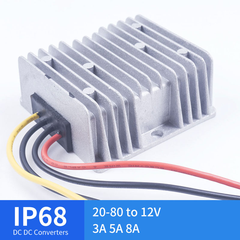20-80V TO 12V 3A 5A 8A Large Aluminum Shell DC Converter Regulator Reducer 20-80 Volts To 12 Volts Module Step-Down Car20-80V TO 12V 3A 5A 8A Large Aluminum Shell DC Converter Regulator Reducer 20-80 Volts To 12 Volts Module Step-Down Car
