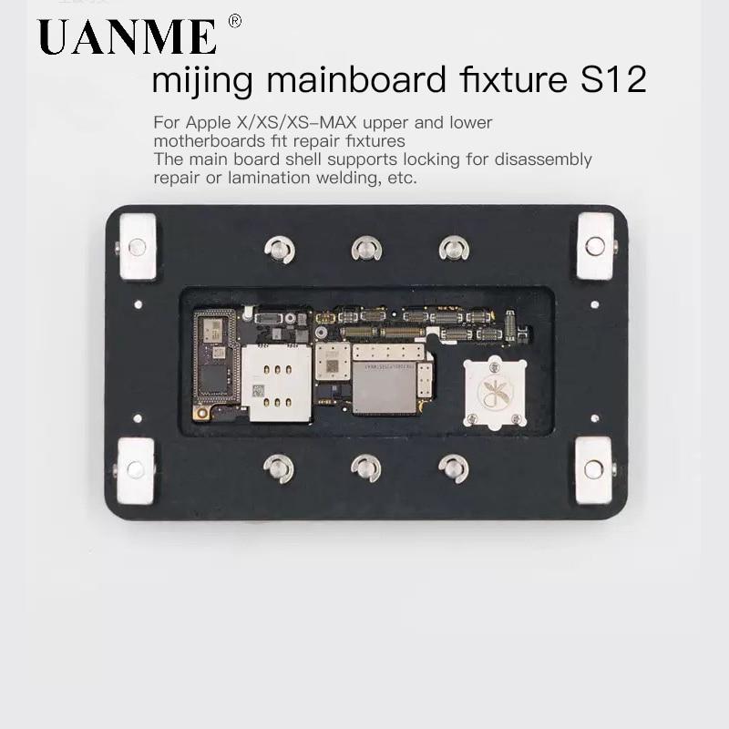 Braçadeira de reparo da placa do fechamento de uanme s12 para o iphone x xs XS-MAX dispositivo elétrico manutenção da plataforma fixa superior e inferior soldagem de mainboard