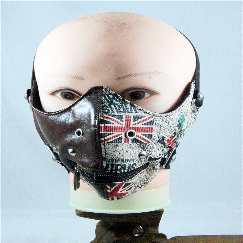 GüNstiger Verkauf 10 Teile/paket Neue Mode Maske Retro England Reis Flag Atmungs Maske Europa Und Die Vereinigten Staaten Beliebte Gothic Masken Bekleidung Zubehör Damen-accessoires