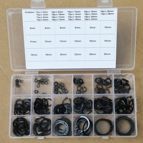18 Kinds of Steel External Circlip Retaining Ring Snap Ring Assortment Kit design of liquid retaining concrete structures