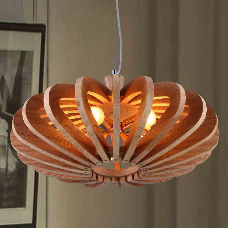 simple personality chandelier fashion modern emola art living room restaurant lights 2017 Northern Europe Designer Art Personality Restaurant Chandelier Simple Solid Wood Living Room Decor Lights Free Shipping