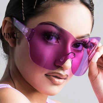 Vintage Retro Shield Visor Sunglasses Women Men 2019 Oversized Windproof Glasses One Peice Big Frame Goggles Sun Glasses NX - DISCOUNT ITEM  23 OFF Apparel Accessories
