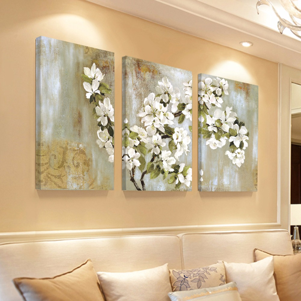Home decor wall painting flower canvas painting cuadros for Home decor wall hanging