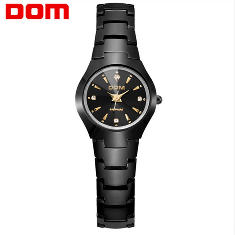 DOM watch women fashion casual dress quartz watches waterproof women luxury tungsten steel bracelet wristwatch relogio feminino guanqin quartz watches fashion watch women dress relogio feminino waterproof tungsten steel gold bracelet watches relojes mujer