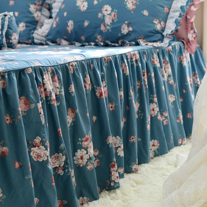 Garden beauty flower print bedspread elegant bed cover 100 cotton coverlet bedroom sweet bed spread bed