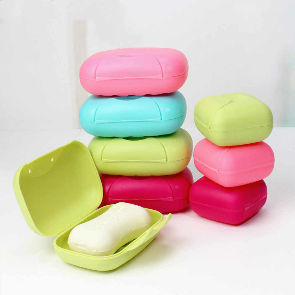 1Pc Big Size Bathroom Soap Dishes Box Portable Plate Case For Home Shower Travel Hiking Soap Holder Container Soap Boxes